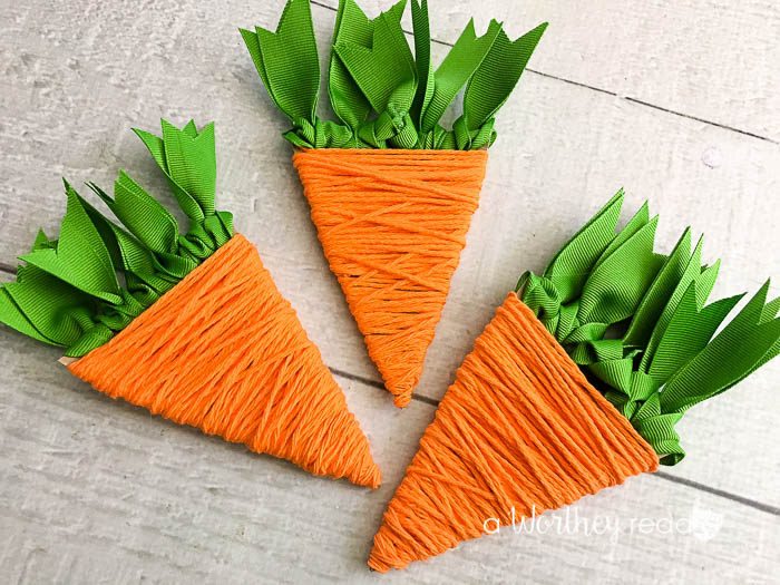 Easter Carrot Yarn Craft This Worthey Life Food Travel