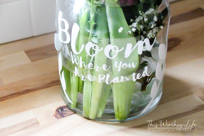 Easy DIY Bloom Mason Jar