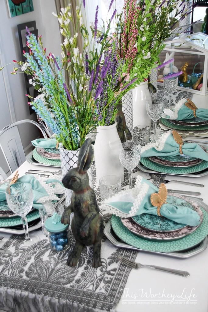 Easy Spring Tablescape Ideas