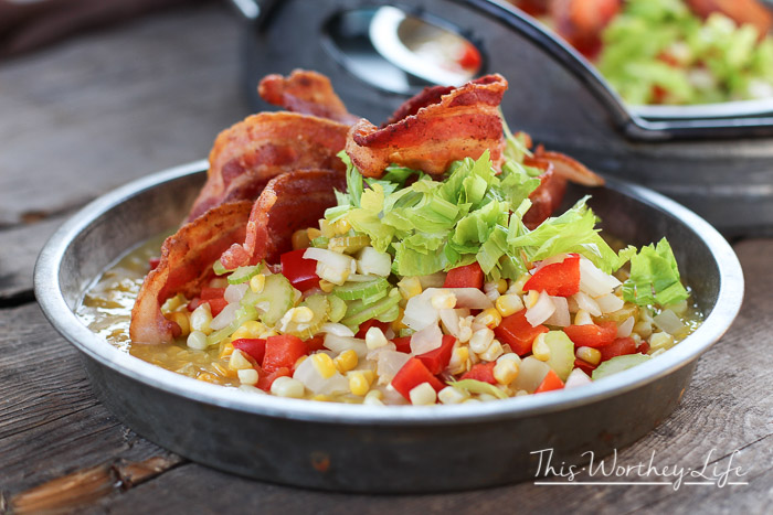The Ultimate Sweet Corn + Bacon Salad - This Worthey Life
