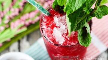 Frozen Cherry + Blackberry Mint Julep {virgin}