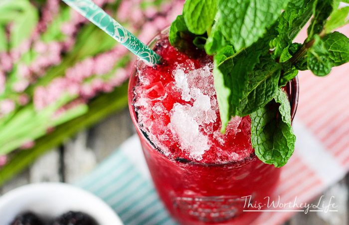Frozen Cherry + Blackberry Mint Julep {virgin}