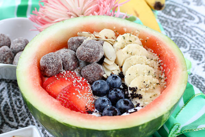 Fruit Yogurt + Watermelon Bowl