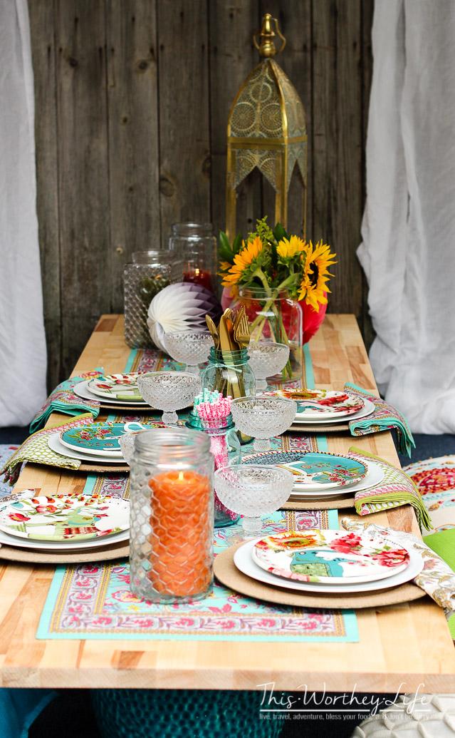 Outside picnic party idea