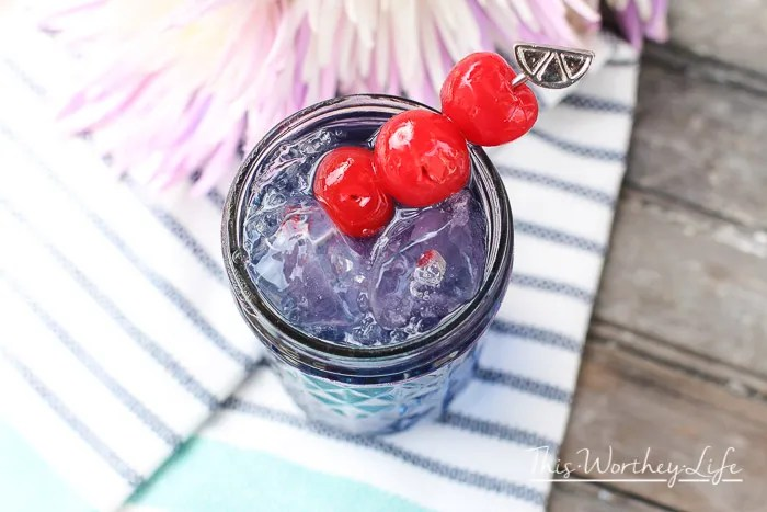 This lemonade mocktail is mixed with blueberry lemonade, and a few other ingredients to make a great summer drink. This mocktail idea is perfect for any summer party or a way to cool down on a hot day! Grab the recipe on the blog- Blueberry Lemonade Mocktail