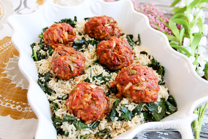 Easy Dinner recipe- Take a classic meatloaf recipe to make Olive Burger Meatballs in under 30 minutes!