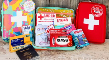 When you're packing your bags to travel, don't forget the first-aid essentials. Create your own DIY Travel First-Aid Kit, with a printable checklist.