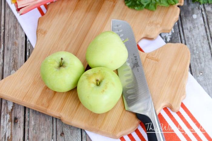 Fresh apples for salad recipes