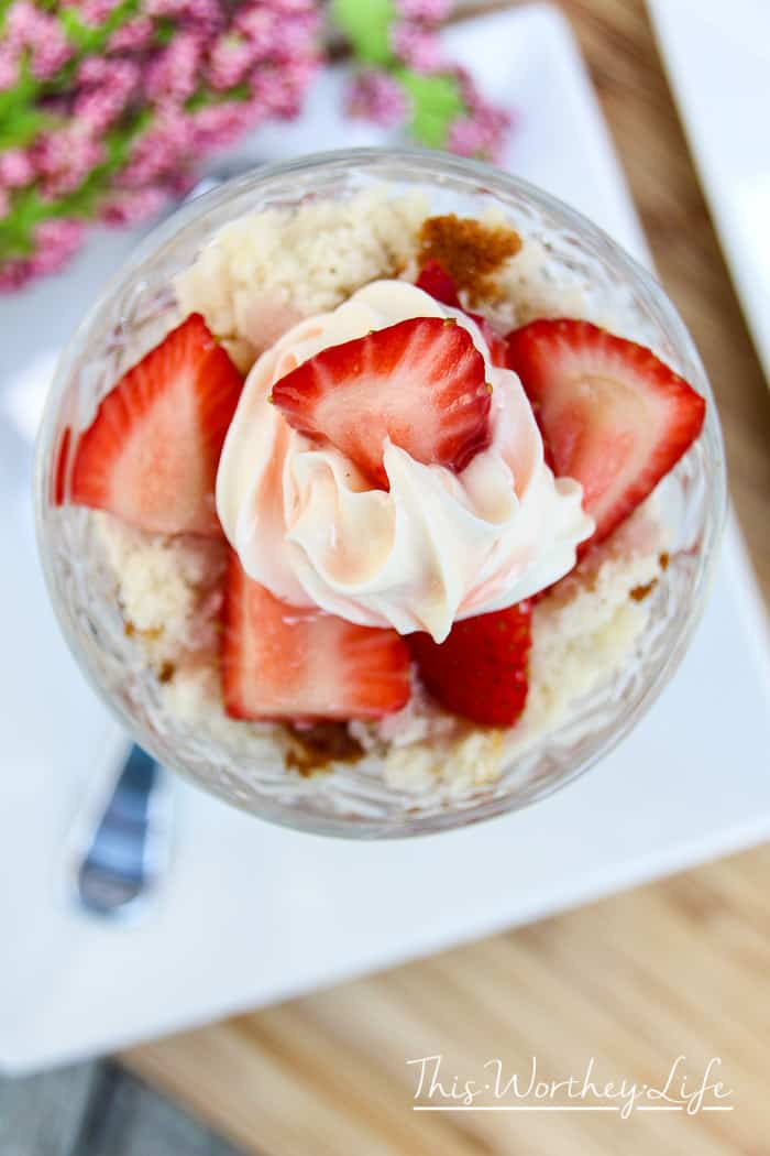 Try our homemade and easy Strawberry Shortcake Crumble recipe, usingPillsbury™ Filled Pastry Bag Cream Cheese Frosting. An easy dessert idea to have anytime of the year!
