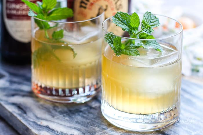 American Bourbon Mule Cocktail