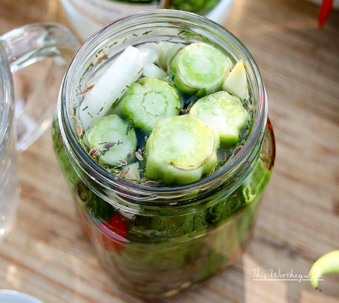 Garden Pickled Okra + Peppers Tutorial