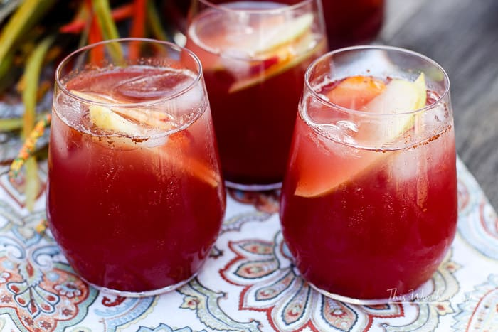 Fall Fruit Rosé Sangria