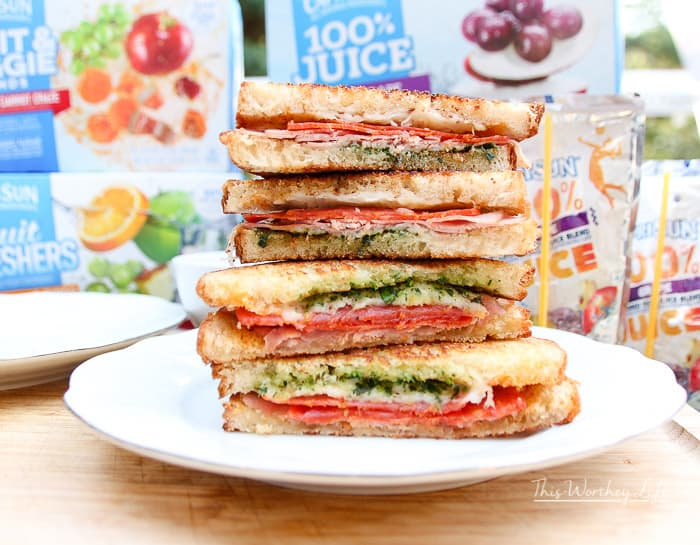 Pizza Stuffed Grilled Cheese Sandwich