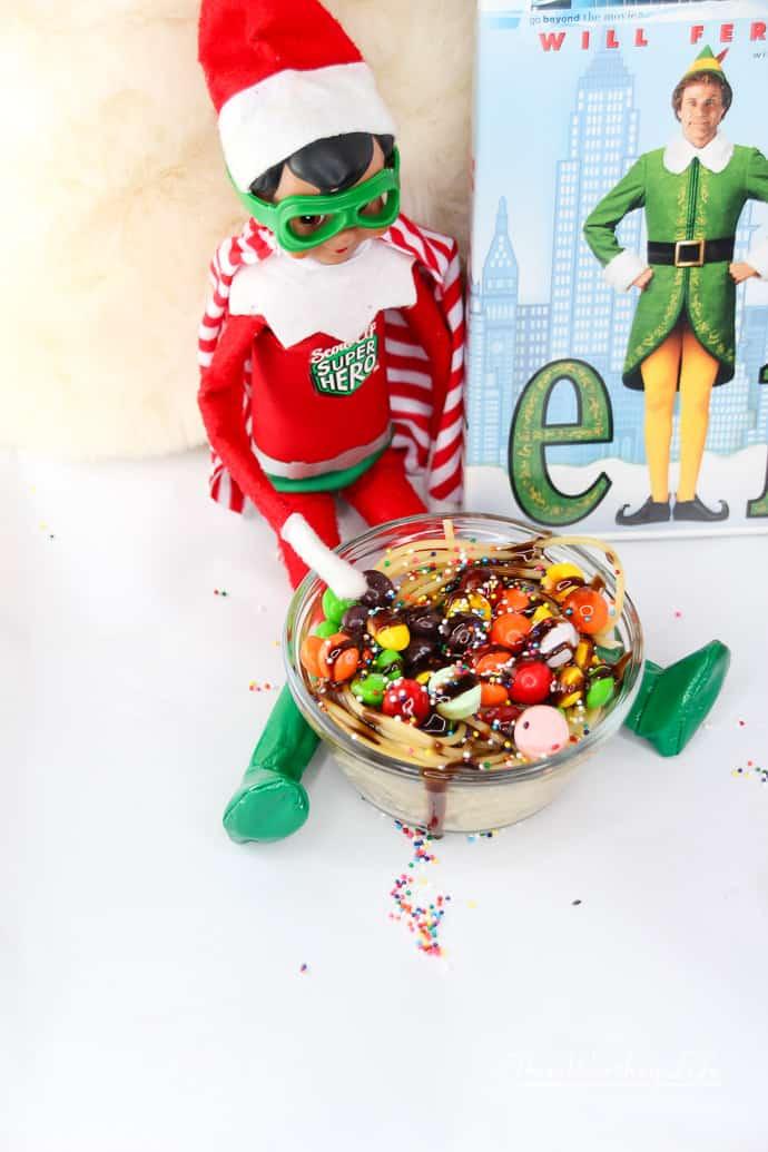 Simple Elf on the Shelf Ideas- elf the movie