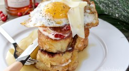 Stuffed French Toast + Strawberry Champagne Jam