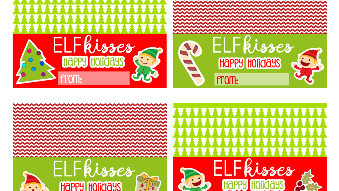 Elf on the Shelf printable Bag Toppers