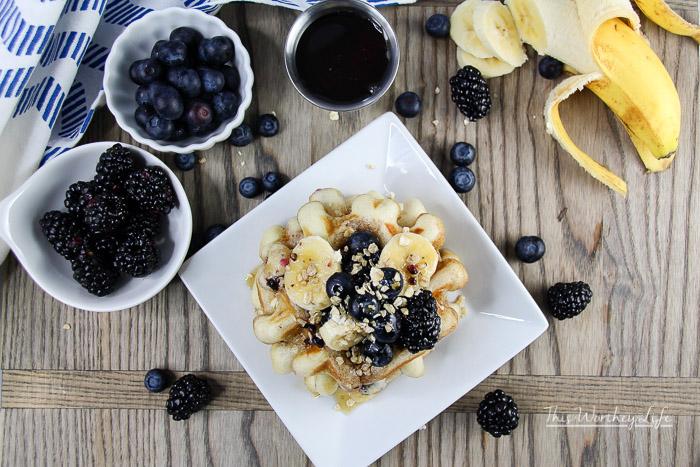 Blueberry Chia + Oatmeal Waffles