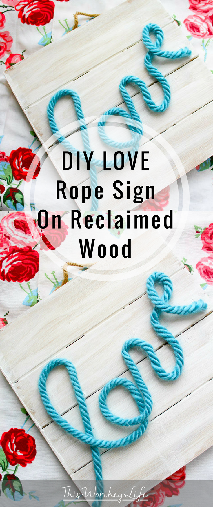 Here's a quick DIY you can do for Valentine's Day. With a piece of reclaimed wood, paint, and a few other accessories to put together this DIY Love Rope Sign.