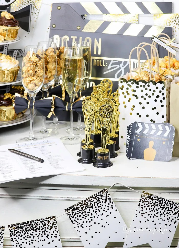 Gold Oscar Party Idea
