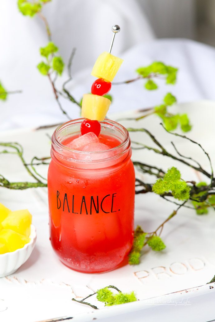 Summer drink idea- Punch with Pineapple Juice + Black Raspberry Sparkling Ice