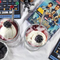 Blackberry Black Panther Slushy Ice Cream Float