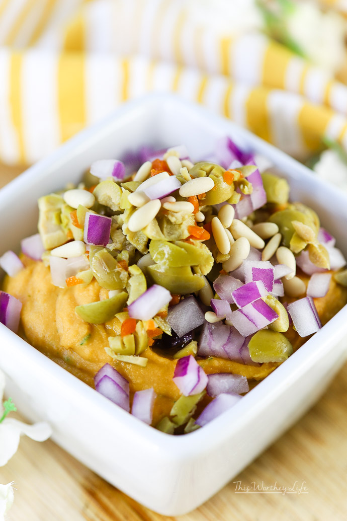 Loaded Sweet Potato Herb Hummus