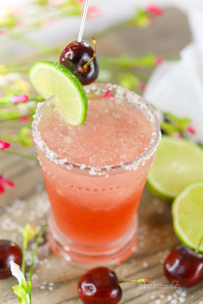 Margaritas are such a fun drink! This cherry margarita is made with a good brand of tequila, cherry syrup, and a few other key ingredients you need to make a margarita.