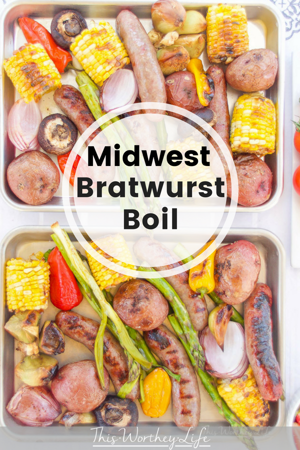 We're sharing how we make a Midwest Bratwurst Boil, something we're known for here in the Midwest. A Midwest boil consists of fresh veggies, brats and seasoning tossed on the grill. Grab the recipe on our food blog, as well as the beer that pairs well with our bratwurst boil.