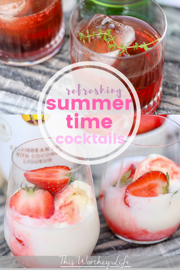 Summer is here, and it's a time to enjoy good food, fun and a cocktail or two. I've created two summer cocktail ideas using Jameson and Malibu. Grab the recipes below and let's celebrate all summer long!
