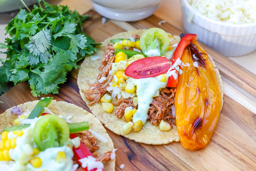 Instant Pot Taco Recipe Bbq Pulled Chicken Street Tacos