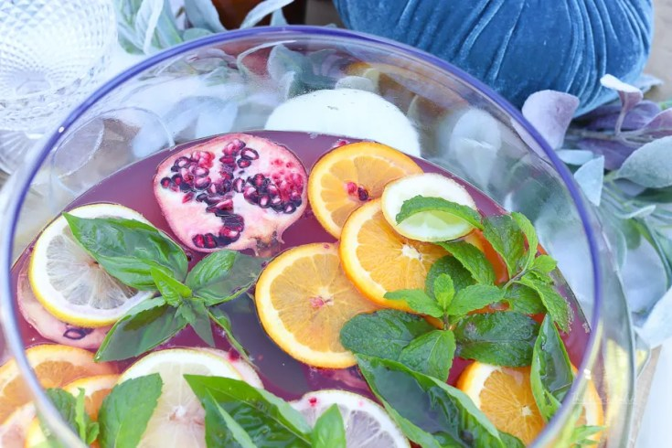 Non-Alcoholic Punch - Fizzy Citrus Soda Punch Recipe
