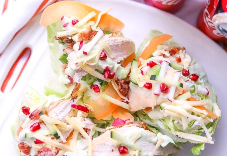 Healthy Chicken recipe | Loaded Rotisserie Chicken Wedge Salad