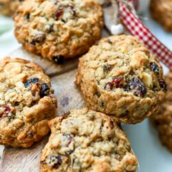Loaded Oatmeal Raisin Cookies
