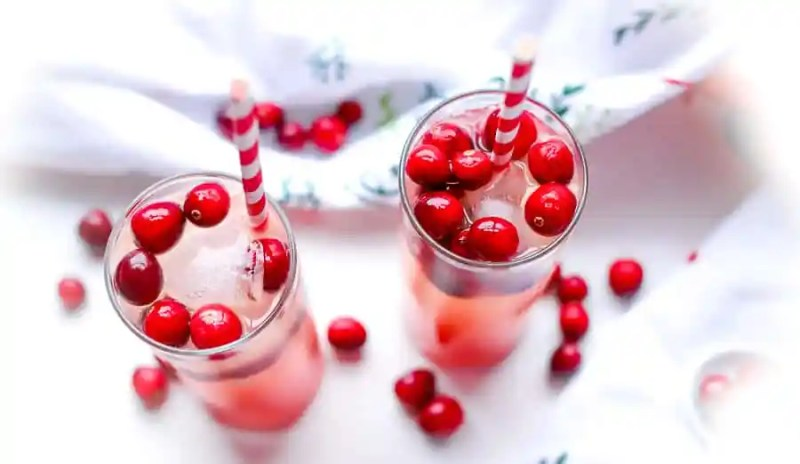 Ingredients needed for a Cranberry Orange Mixed Drink