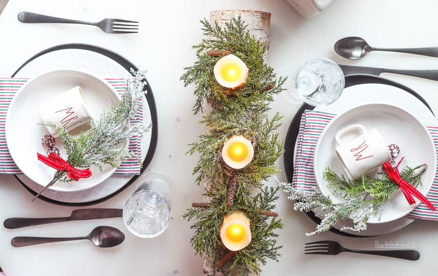 Christmas Table idea for two