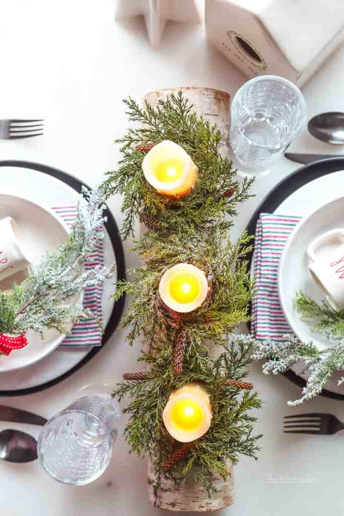 Christmas Tablescape Idea for Two