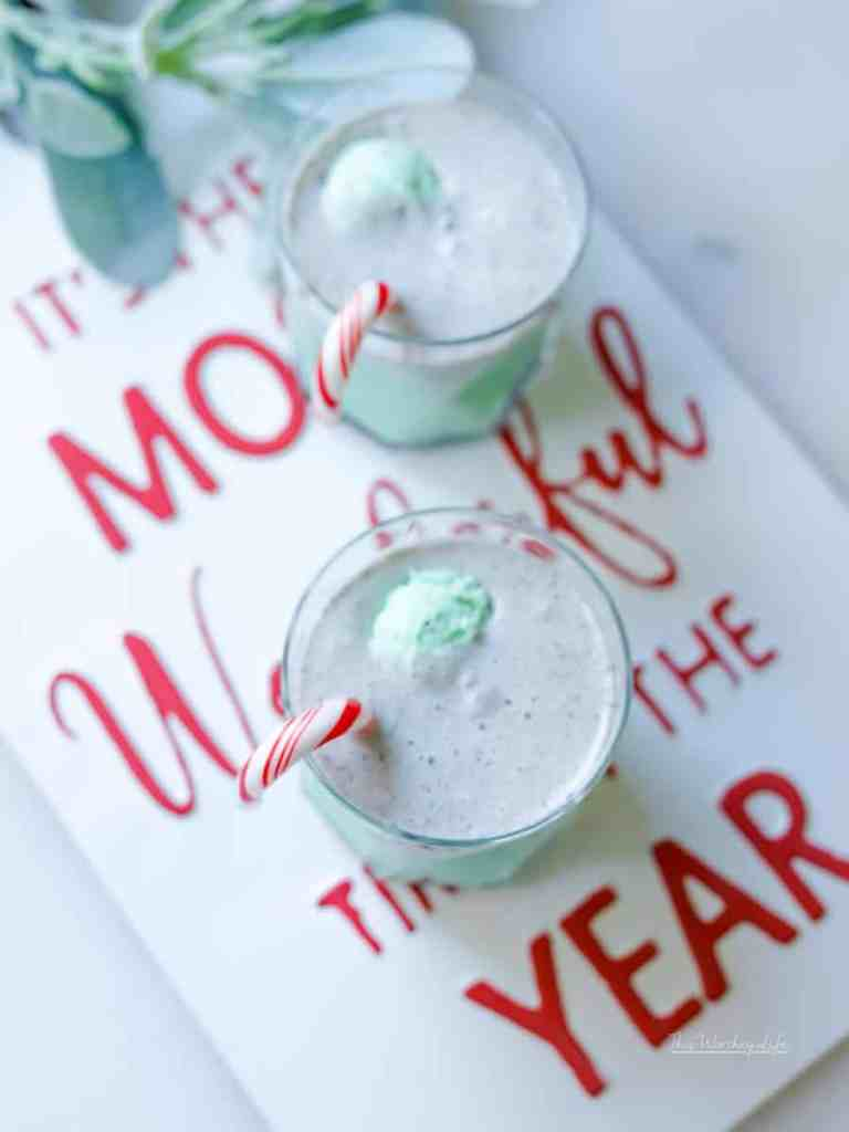Boozy drinks are perfect for the holidays. Mix in a little eggnog, rum, mint chocolate chip ice-cream, and you have a festive holiday cocktail! Our Mint Chocolate Chip Eggnog Punch is ready to be the talk of Christmas dinner. Or, if you're hosting Cousin Eddie and the fam, then you'll want to keep dipping your mug in this punch bowl!