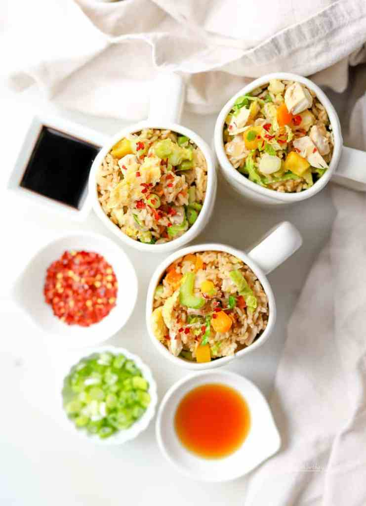 Leftover Turkey Idea | Instant Pot Stir-Fry with Turkey + Brown Rice- Have left-over turkey? Here's a quick stir-fry dinner idea made in the Instant Pot. Paired with Brown Rice (also made in the Instant Pot), this is a delicious and easy dinner idea filled with tons of fresh veggies, brown rice, and turkey!