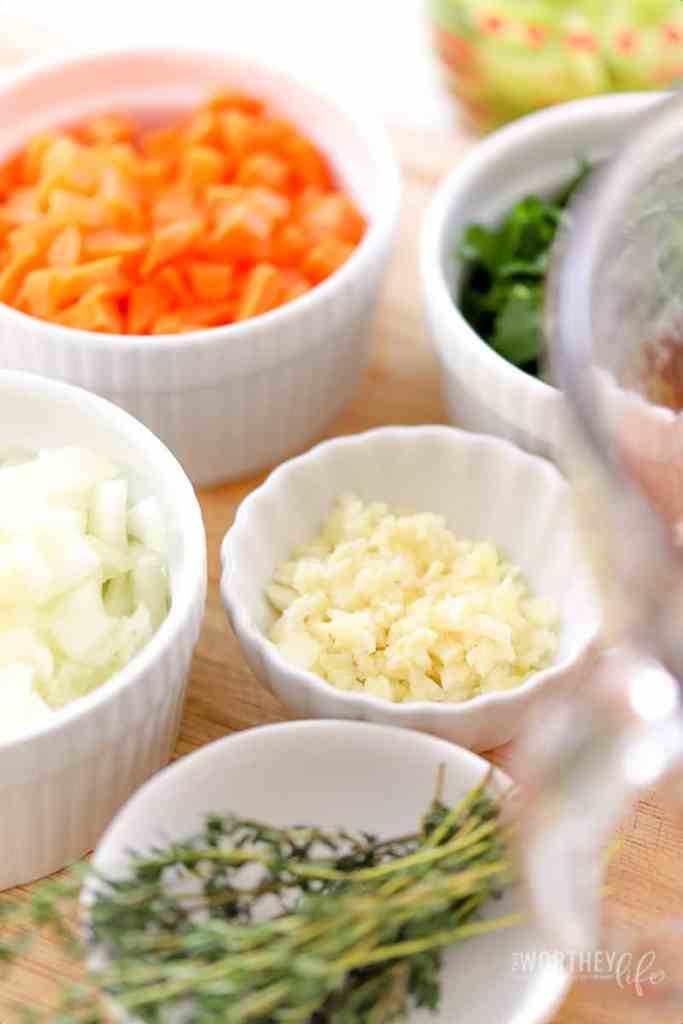 The Ingredients To Make Shrimp Bisque