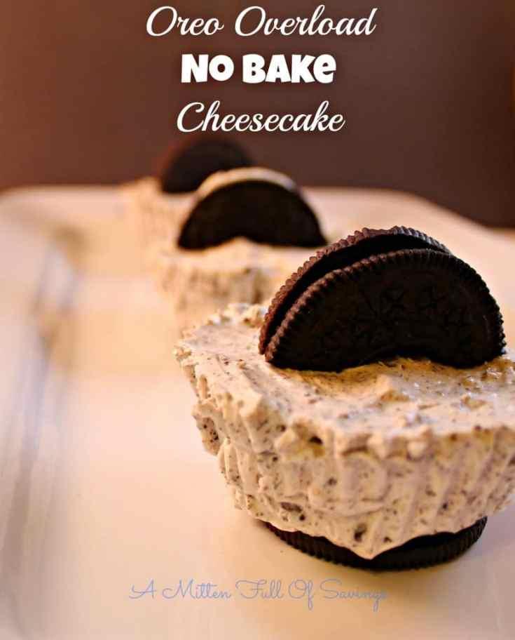 Oreo Overload No Bake Cheesecake