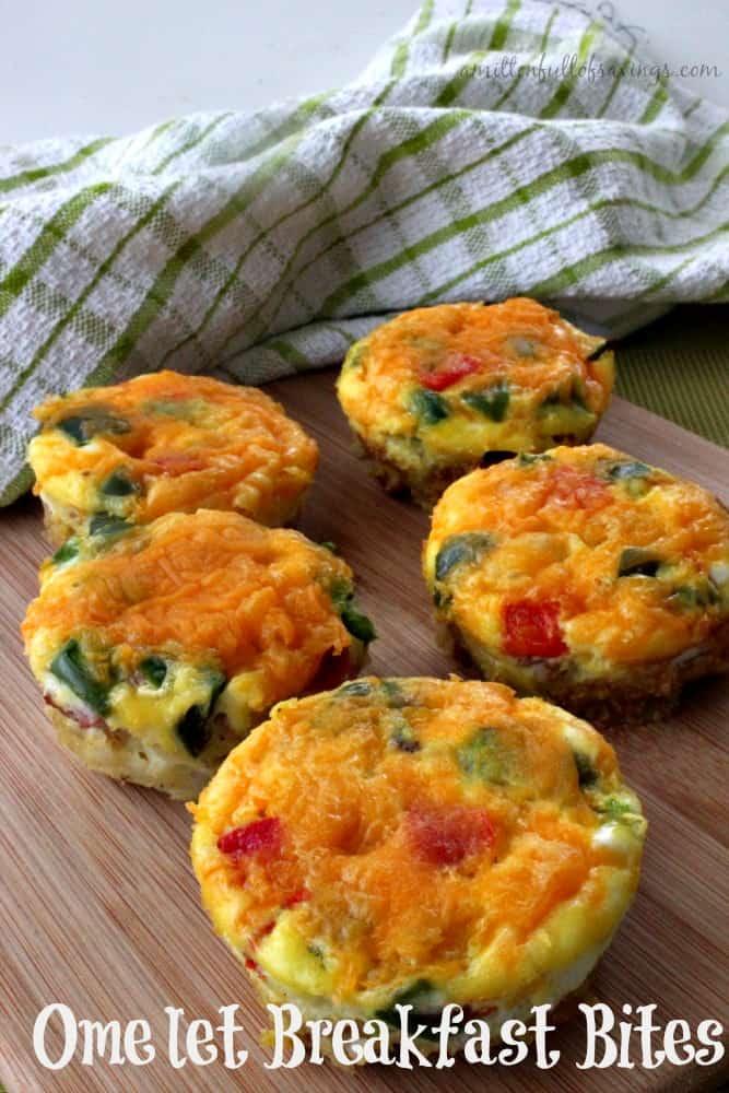 Easy Breakfast Recipe: Omelet Breakfast Bites