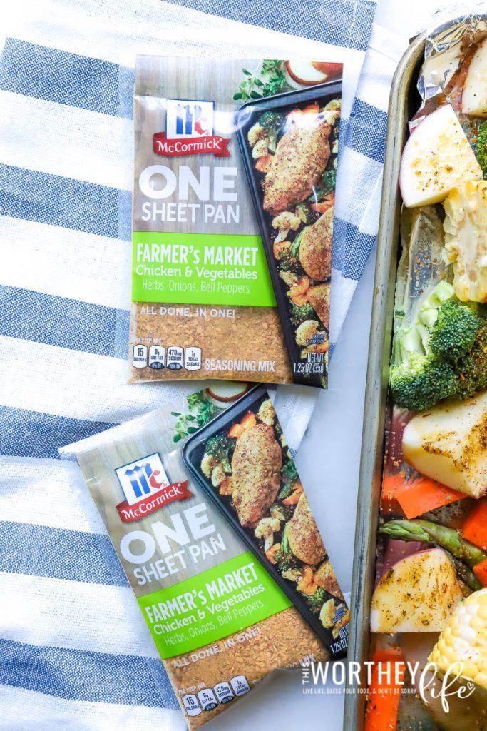 How to make Chicken + Vegetables Sheet Pan Dinner