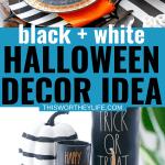 Black + White Halloween Decor idea