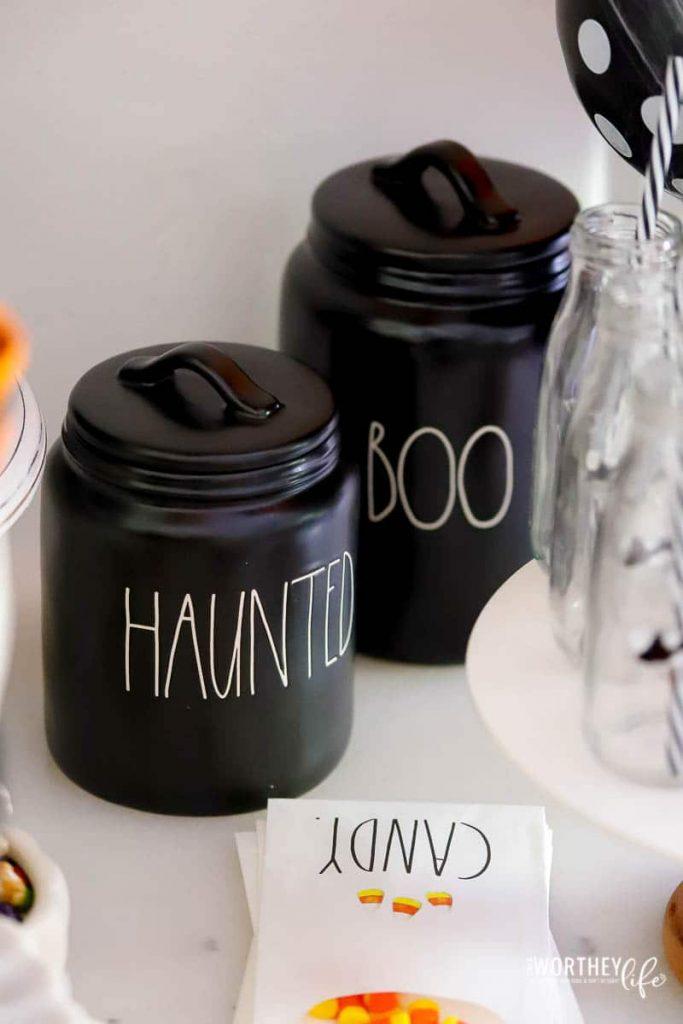 Halloween Rae Dunn Canisters