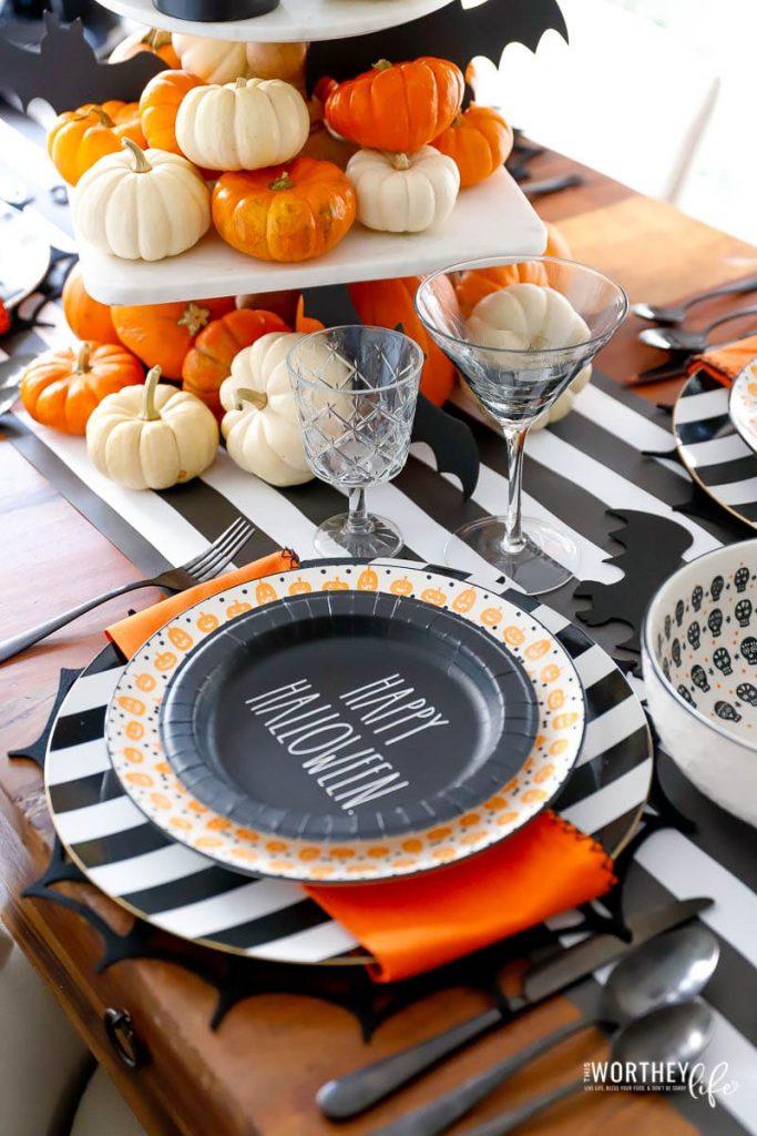 Happy Halloween table setting