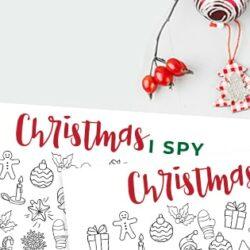 I-Spy Christmas free Printable