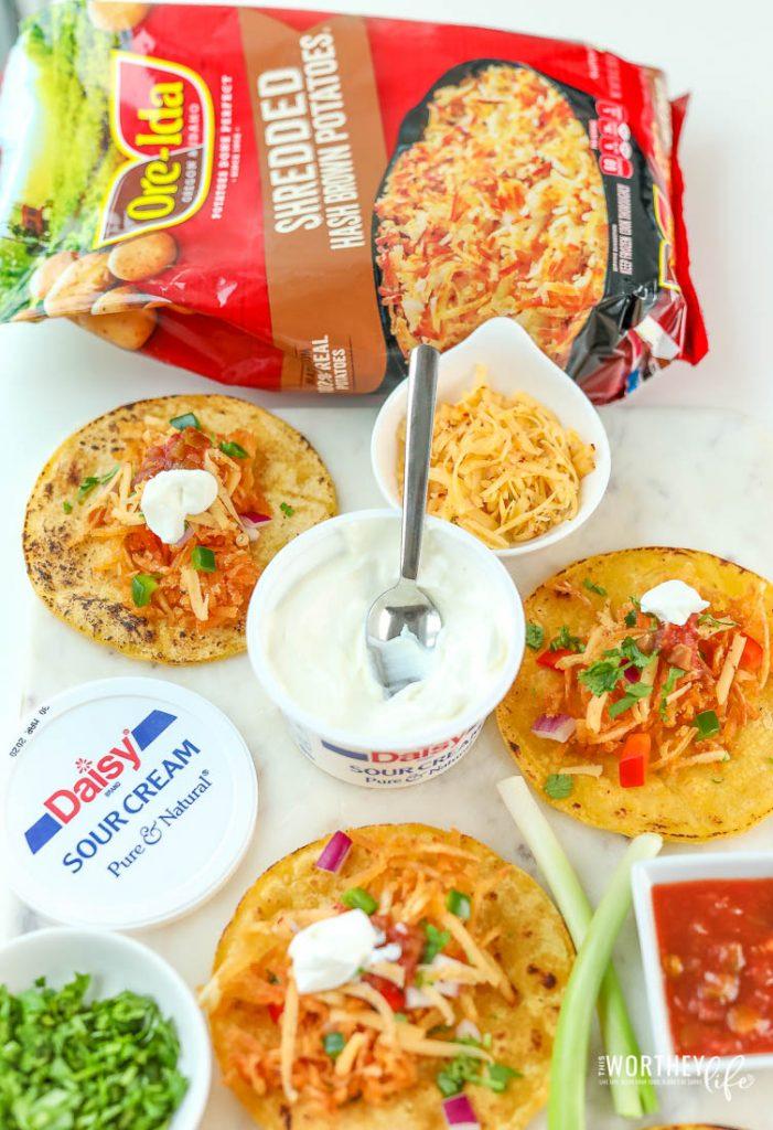 Crispy Hash Brown Taco Recipe