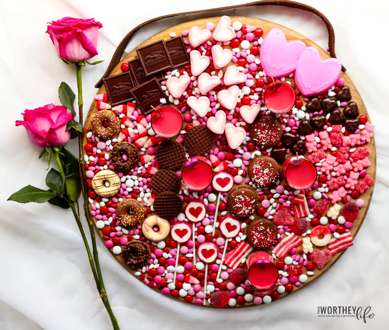 how to put together a valentines chocolate candy board