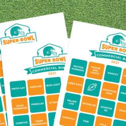 2021 Super Bowl Bingo printables