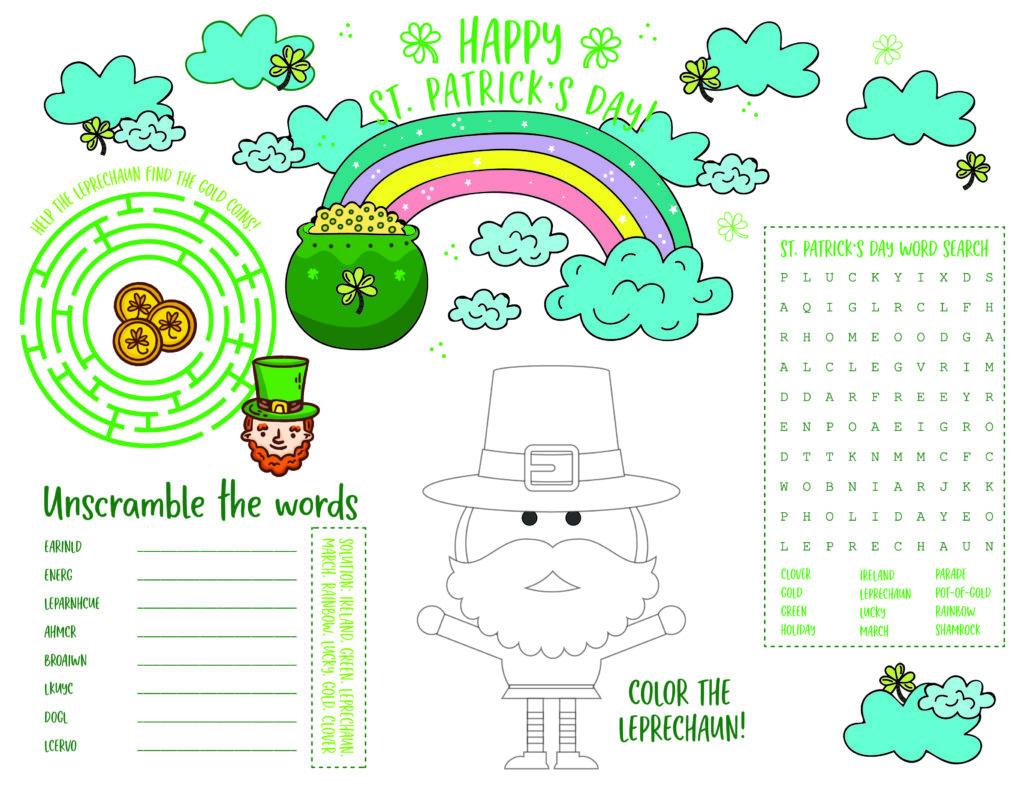St. Patrick's Day activity sheet